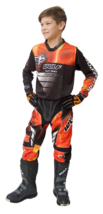 Wulfsport Forte Junior Crossbuks og bluse - Orange