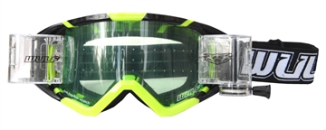 Wulfsport Roll Off Brille 36mm- Fluo Gul / Sort