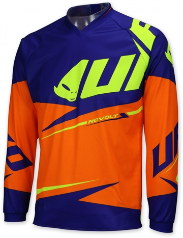 UFO Revolt Junior Cross shirt - Orange / Blå / Gul